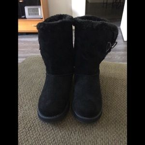 Skechers Keepsakes Freezing blk Suede Boots  7$70